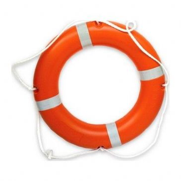 LIFE RING ORANGE WITH SOLAS TAPE